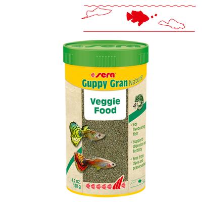 【熱帯魚フード】グッピーグランNature 250ml/120g