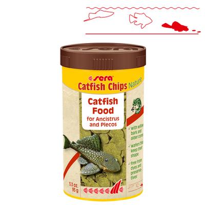 【熱帯魚フード】キャットフィッシュチップスNature 250ml/95g