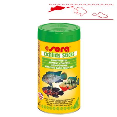 【大型魚用フード】シクリッドスティックス 500ml / 90g