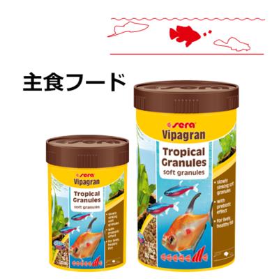 熱帯魚の主食顆粒フード seraビーパグラン
