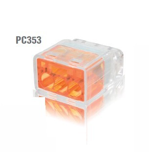 冨士端子工業 VFコネクタ(電線差込型) 2点接点タイプ 差込線数3 PC353 50個入