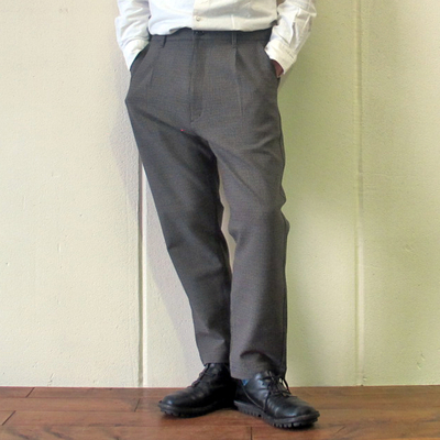 (men's) KAFIKA/カフィカ 千鳥格子 LOUNGE PANTS brown (mbt011)