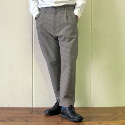 (men's) KAFIKA/カフィカ 千鳥格子 LOUNGE PANTS beige (mbt012)