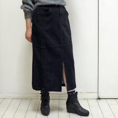 nougatine/ヌガティーヌ ストレッチデニム タイトスカート black (Lbt015)