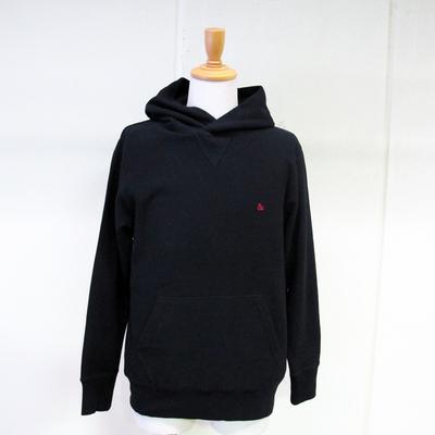 (men's) s&nd/セカンド 裏毛プルオーバーパーカー black (mct032)