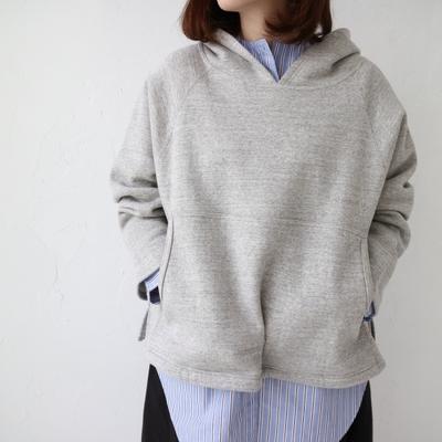 doux bleu / ドゥブルー フードプルオーバー gray (Lct030)