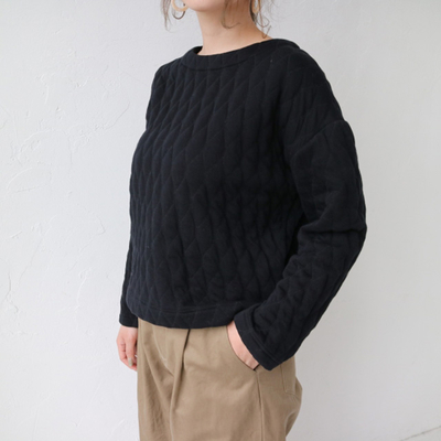 YARRA/ヤラ コズミックキルトプルオーバー black (Lct032)