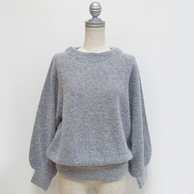 doux bleu / ドゥブルー ブークレー プルオーバー gray (Lct036)