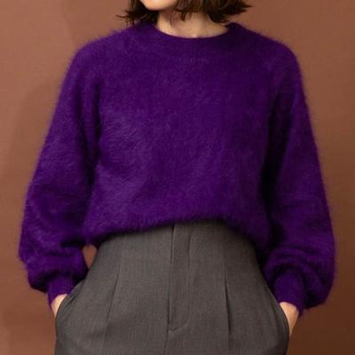 audrey and john wad フェレットmix ハイネックニット purple (Lct040)