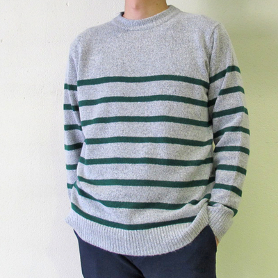 HOUSE OF BLUES ブークレーボーダーニット gray×green (mct040)