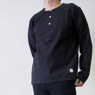 Drole & FUN/ドロールアンドファン フレンチヘンリーL/S TEE black (mct041)