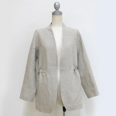 mjuka/ミューカ リネンノーカラージャケット natural (Lou027) ※送料手数料¥0