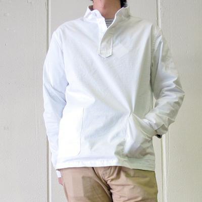 (men's) Drole & FUN/ドロールアンドファン ショール衿プルオーバーシャツ white (mshi034) ※送料手数料¥0