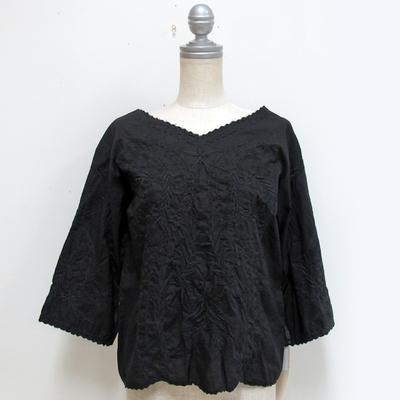 mjuka/ミューカ 刺しゅうブラウス black (Lshi043) ※送料手数料¥0