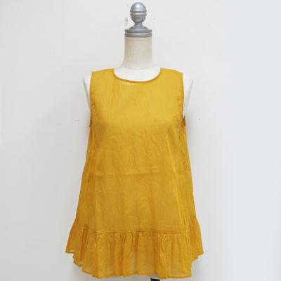 Audrey and John Wad/オードリーアンドジョンワッド インド綿 ノースリーブブラウス yellow (Lshi047) ※送料手数料¥0