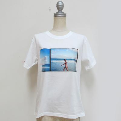 Audrey and John Wad/オードリーアンドジョンワッド JAMeenコラボ(beach) Tシャツ white (Lct077) ※送料手数料¥0