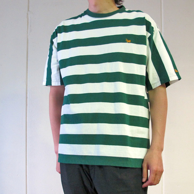 (men's) s&nd/セカンド ビッグボーダーオーバーTEE green (mct059) ※送料手数料¥0