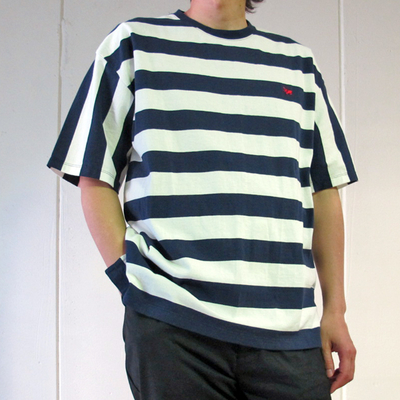 (men's) s&nd/セカンド ビッグボーダーオーバーTEE navy (mct061) ※送料手数料¥0