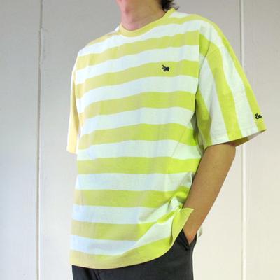 (men's) s&nd/セカンド ビッグボーダーオーバーTEE yellow (mct060) ※送料手数料¥0