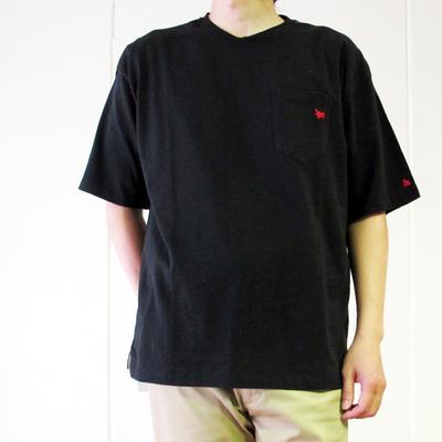 s&nd/セカンド 綿スラブ オーバーT black (mct063) ※送料手数料¥0
