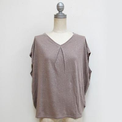 Hunch/ハンチ 肩タックフレンチ袖プルオーバー gray (Lct081) ※送料手数料¥0