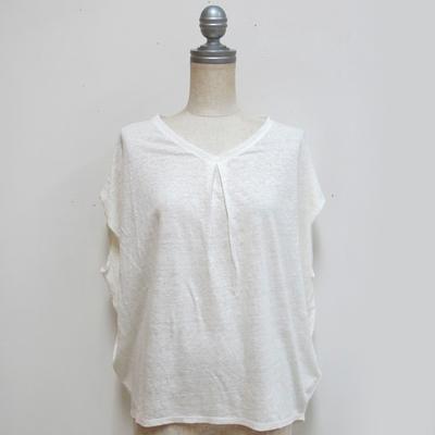 Hunch/ハンチ 肩タックフレンチ袖プルオーバー white (Lct082) ※送料手数料¥0
