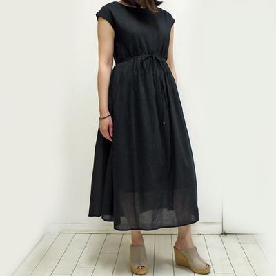 Hunch/ハンチ ピンタックワンピース black (Lop056) ※送料手数料¥0