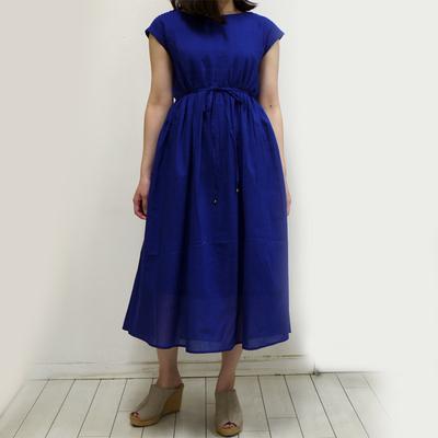 Hunch/ハンチ ピンタックワンピース blue (Lop057) ※送料手数料¥0
