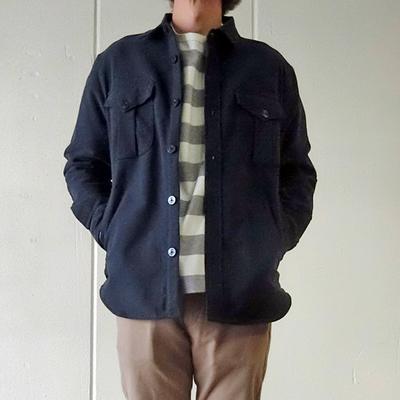 (men's) Drole & FUN / ドロールアンドファン CPOシャツジャケット navy (mou014)