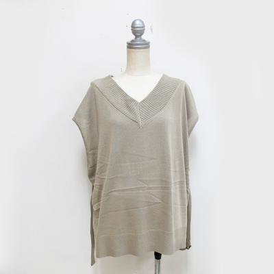 (lady's) Hunch / ハンチ ゆるニットベスト LT.beige (Lct087)