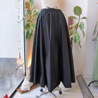 (lady's) Hunch / ハンチ ヨーク切り替えフレアースカート charcoal (Lbt036)