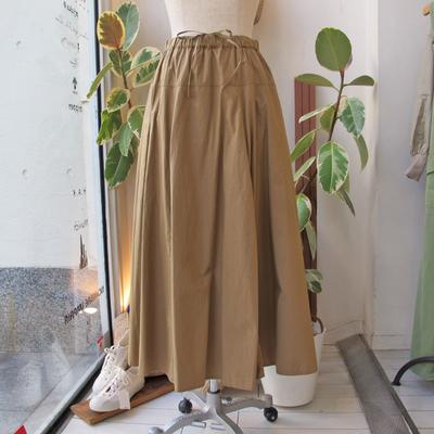 (lady's) Hunch / ハンチ ヨーク切り替えフレアースカート beige (Lbt037)