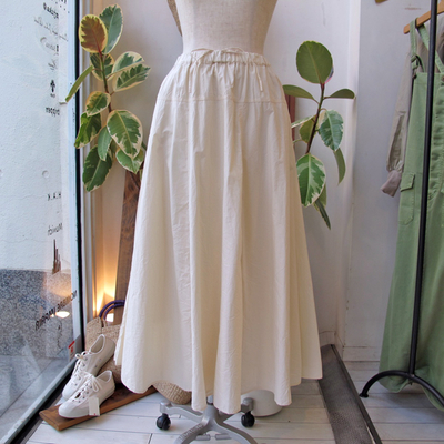 (lady's) Hunch /  ハンチ ヨーク切り替えフレアースカート off white (Lbt038)