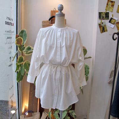 (lady's) Hunch / ハンチ シャーリングチュニックシャツ white (Lshi057)