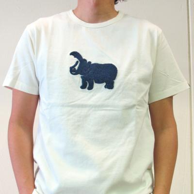 (men's) hipopotamus T white (mct013)