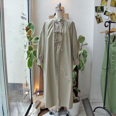 (lady's) Khakito / カーキト サージカルガウン beige (Lou028)