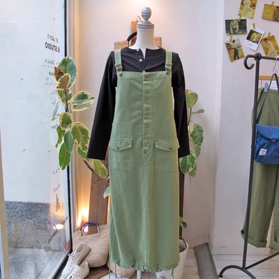 (lady's) khakito /  カーキト ミリタリーサロペット green (Lbt041)