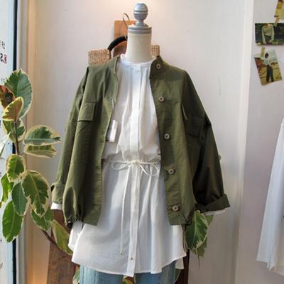 (lady's) Hunch / ハンチ オーバーミリタリージャケット khaki (Lou029)