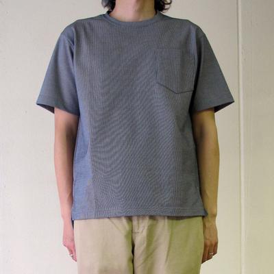 (men's) Harriss / ハリス 超長綿ポケットT gray (mct072)