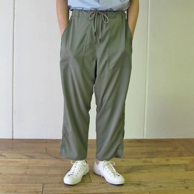 (men's) MANUAL ALPHABET / マニュアルアルファベット TWILL UTILITY EASY PANTS olive (mbt010)