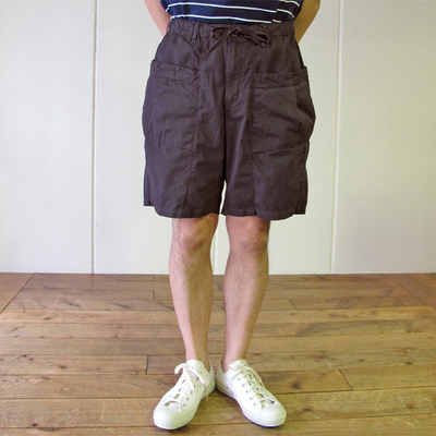 (men's) MANUAL ALPHABET / マニュアルアルファベット OD SHORT CARGO PANTS sumikuro (mbt013)