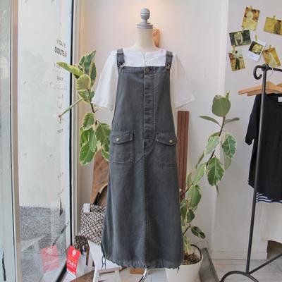 (lady's) khakito / カーキト ミリタリーサロペット black (Lbt049)