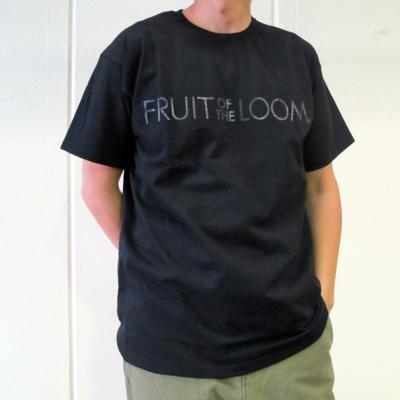 (men's) GELプリントTシャツ black (mct016)