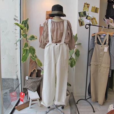 (lady's) khakito / カーキト イージーパンツサロペット white (Lbt052)