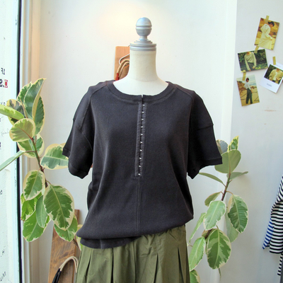 (lady's) khakito / カーキト ホック付きドルマンP/O charcoal (Lct096)