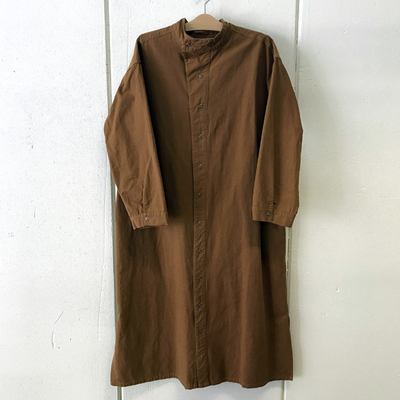 (lady's) khakito / カーキト  M55 コートワンピース brownbeige (Lou033)