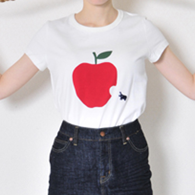 (lady's) apple T white (Lct003)