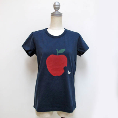 (lady's) apple T navy (Lct002)