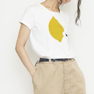 (lady's) lemon T white (Lct004)