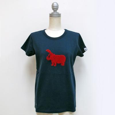 (lady's) hipopotamus T navy (Lct005)